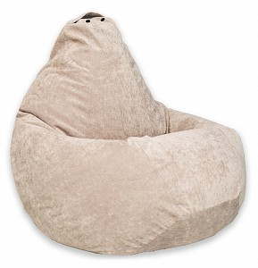 Кресло-мешок Бежевый Микровельвет L