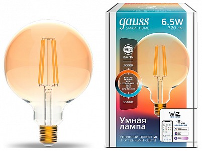 Лампа светодиодная [LED] Gauss E27 6.5W 2000-5500K