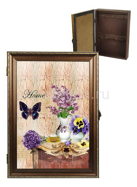 Ключница Акита (24х34 см) Букет сирени 312-25