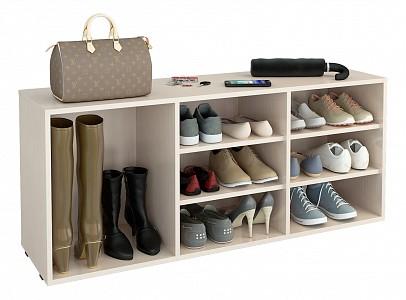 Обувница для прихожей Лана MAS_MST-POL-1S-2P-R-16-DM