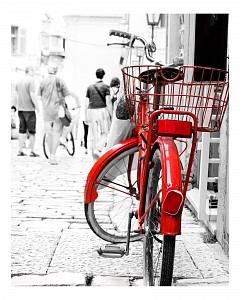 Панно (40х50 см) Красный велосипед 1717021К4050