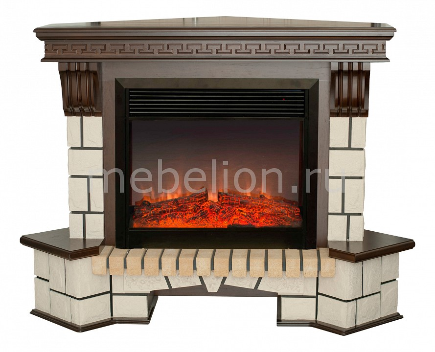 Электрокамин напольный Real Flame (134х43х107 см) Stone New Corner 00010011154 dubai new living room l shaped corner sofa set couch designs fabric foshan