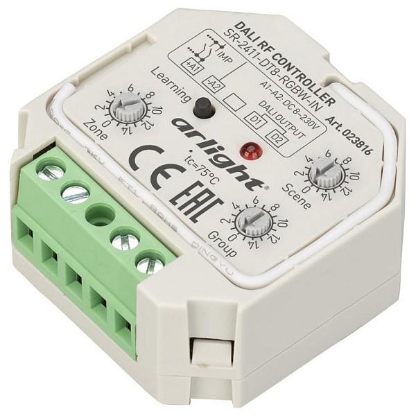 Контроллер-регулятор цвета RGBW SR-2411-DT8-RGBW-IN (DALI, RF, PUSH)