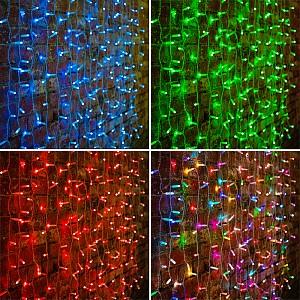 Занавес световой (2x1,5 м) Светодиодный Дождь 245-309