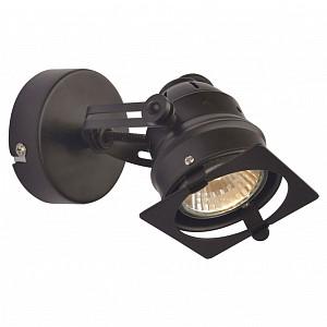 Спот поворотный Denver, 1 лампы GU10 по 5.5 Вт., 2.78 м², цвет черный матовый