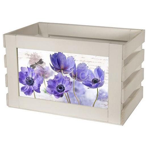 Ящик декоративный Акита Сиреневые цветы 817