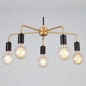 Подвесной светильник 70053/5 черный/золото