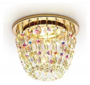 Встраиваемый точечный светильник Crystal K2075 AMBR_K2075_G_PR