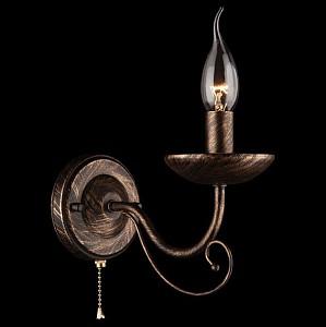 Бра Provence 22404/1 черный с золотом
