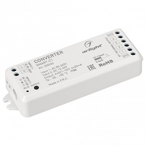 Контроллер-регулятор цвета RGBW SMART-C1 (12-24V, RF-0/1-10V, 2.4G)