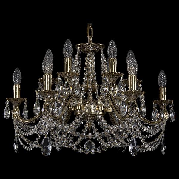 Подвесная люстра 1703/12/225/C/GB Bohemia Ivele Crystal  (BI_1703_12_225_C_GB), Чехия