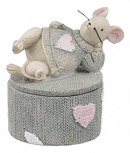 Шкатулка декоративная Мышка 162-575