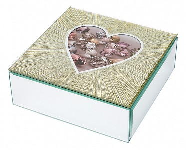 Шкатулка для украшений (16х16х6 см) Heart 453-112