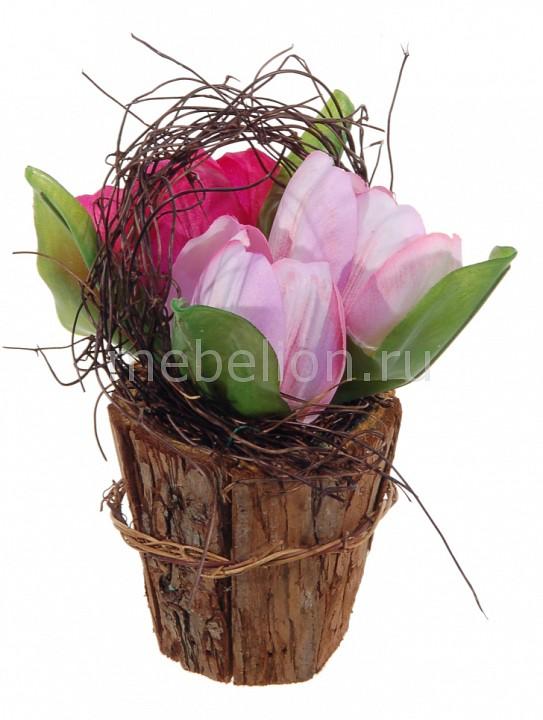 Растение в горшке Home-Religion (16 см) Из 3-х тюльпанов 56001900 пасочница home queen цвет красный 16 5 х 16 5 х 18 см