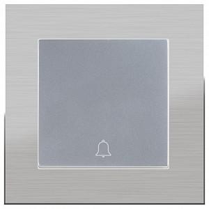 Кнопка звонка без рамки Aluminium(Серебряный) WL11-Frame-01+WL06-04-01