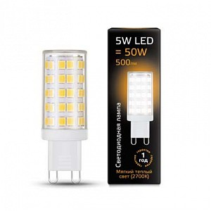 Лампа светодиодная 1073 G9 185-265В 5Вт 2700K 107309105