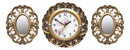 Набор из настенных часов и 2 зеркал (35см) Galaxy 73-SET-6
