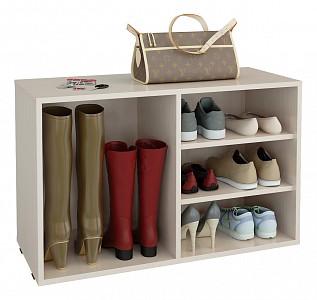 Стеллаж для обуви Лана-2 ПОЛ-2 (1С+1П)