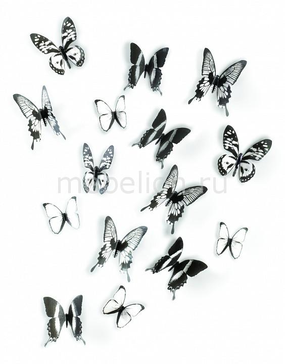Купить Фигура настенная, Набор фигур настенных (11х11 см) Chrysalis 470340-188, Umbra, неокрашенный, черный, полистирол