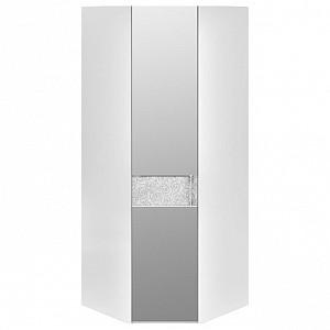 Шкаф платяной угловой Амели СМ-193.07.007 L белый глянец