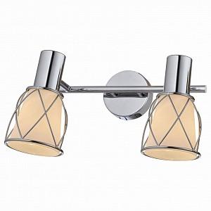 Спот поворотный Stella, 2 лампы E14 по 40 Вт., 3.1 м², цвет белый, хром глянцевый