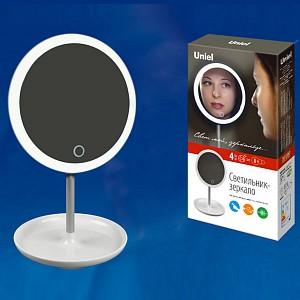Зеркало настольное с подсветкой TLD-590 TLD-590 White/LED/80Lm/6000K/Dimmer