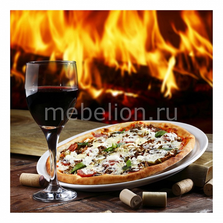 Панно Ekoramka (40х40 см) Вино и пицца 1744084К4040 цена