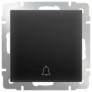 Кнопка звонка без рамки Черный матовый WL08-04-01