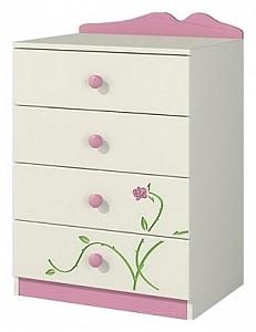 Комод розового цвета Тедди Розалия NEM_K60-1D1