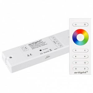 Контроллер-регулятор цвета RGBW с пультом ДУ SR-2839W White (12-24 В, 240-480 Вт, RGBW,ПДУ сенсор)