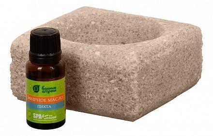 Набор из запарки для бани и соляного испарителя (10x10x5 см) Пихта 32481