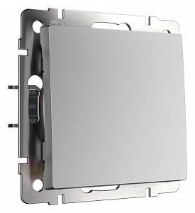 Выключатель одноклавишный без рамки Серебряный W1110006