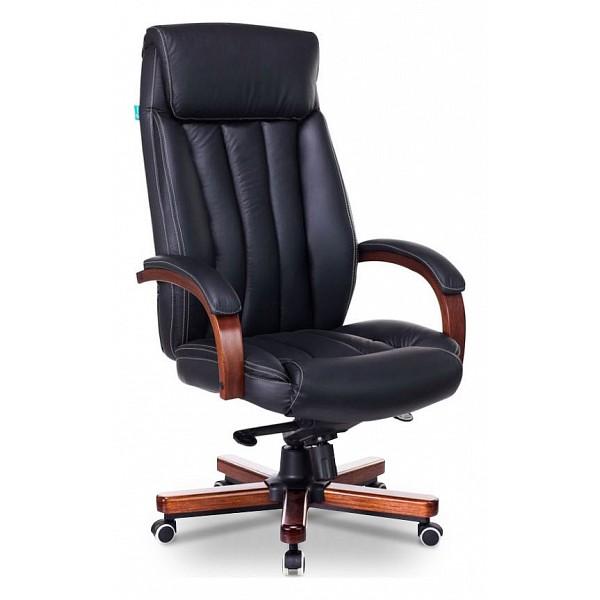 Кресло для  руководителя Бюрократ T-9922WALNUT/BLACK BUR_1115299