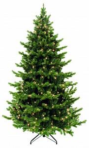 Ель новогодняя [1.55 м] Шервуд с лампами Премиум зеленый 73713