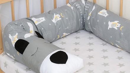 Подушка детская (20x175 см) Мишка