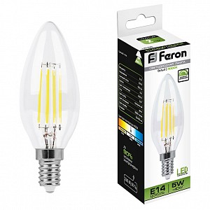 Лампа светодиодная LB-68 E14 220В 5Вт 4000K 25652