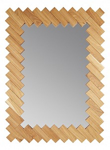 Зеркало настенное (97x71 см) Дубовые планки V20083