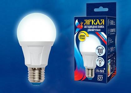 Лампа светодиодная [LED] Uniel E27 12W 4000K