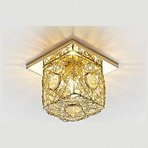 Встраиваемый точечный светильник Dising D1003 AMBR_D1003_G_CL
