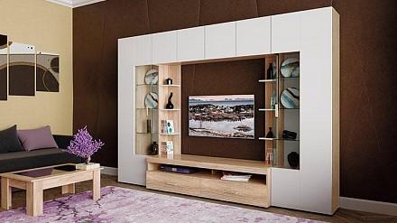 Мебельная стенка среднего размера Лаванда - 3 TRM_P00106119