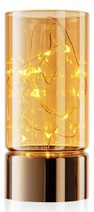 Свеча светодиодная (7x15 см) Kristall RmH-LC-01-Gold