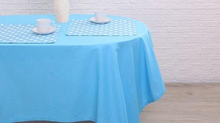 Скатерь с салфетками (150x150 см) Лесная голубика