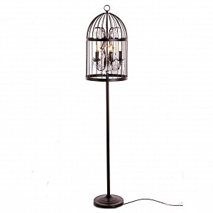 Хрустальный торшер Vintage birdcage LF_LOFT1891F