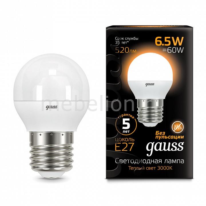 Купить Лампа светодиодная E27 6.5Вт 150-265В 3000K 105102107, Gauss, Китай