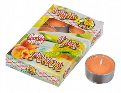 Набор из 6 свечей ароматических (4x2 см) Персик 348-476