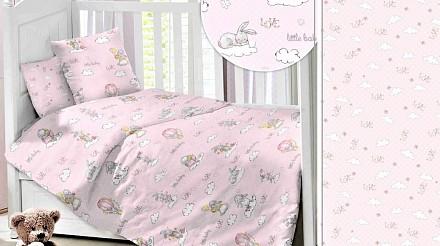 Детский комплект постельного белья Зайки