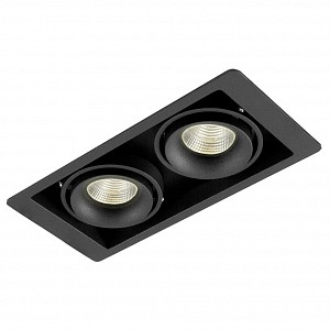 Встраиваемый светильник DL18615/02WW-SQ Shiny black/Black