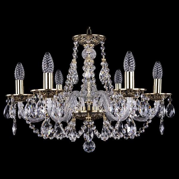 Подвесная люстра 1606/6/195/GB Bohemia Ivele Crystal  (BI_1606_6_195_GB), Чехия