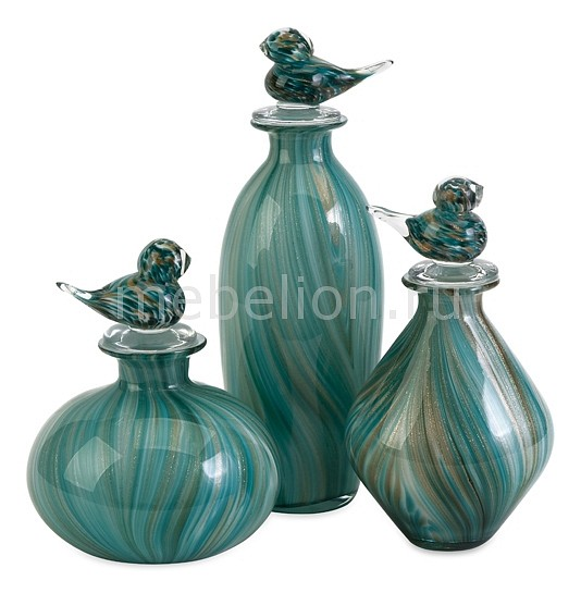 Бутылка декоративная Home-Philosophy Набор из 3-х бутылок декоративных Marnie 63100-3 цена