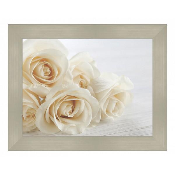 Картина (49х39 см) Букет белых роз BE-103-126 фото